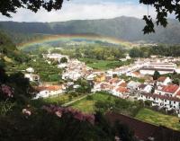 foto arco iris furnas